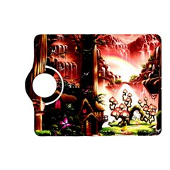 Fantasy Art Story Lodge Girl Rabbits Flowers Kindle Fire Hd (2013) Flip 360 Case by Onesevenart