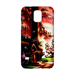 Fantasy Art Story Lodge Girl Rabbits Flowers Samsung Galaxy S5 Hardshell Case  by Onesevenart