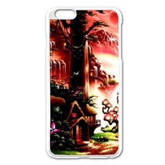 Fantasy Art Story Lodge Girl Rabbits Flowers Apple Iphone 6 Plus/6s Plus Enamel White Case by Onesevenart