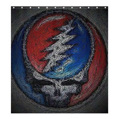 Grateful Dead Logo Shower Curtain 66  X 72  (large)  by Onesevenart