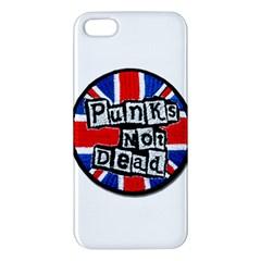 Punk Not Dead Music Rock Uk Flag Apple Iphone 5 Premium Hardshell Case by Onesevenart