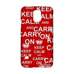 Keep Calm And Carry On Samsung Galaxy S5 Hardshell Case  by Onesevenart