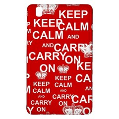 Keep Calm And Carry On Samsung Galaxy Tab Pro 8 4 Hardshell Case by Onesevenart
