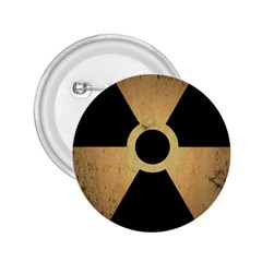 Radioactive Warning Signs Hazard 2 25  Buttons by Onesevenart