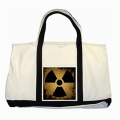 Radioactive Warning Signs Hazard Two Tone Tote Bag by Onesevenart