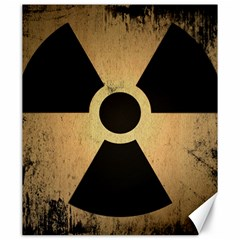 Radioactive Warning Signs Hazard Canvas 20  X 24   by Onesevenart
