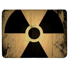 Radioactive Warning Signs Hazard Samsung Galaxy Tab 7  P1000 Flip Case by Onesevenart