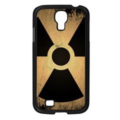 Radioactive Warning Signs Hazard Samsung Galaxy S4 I9500/ I9505 Case (black) by Onesevenart
