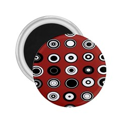 Circles Red Black White 2.25  Magnets