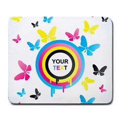 Colorful Butterfly Rainbow Circle Animals Fly Pink Yellow Black Blue Text Large Mousepads by Alisyart