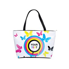 Colorful Butterfly Rainbow Circle Animals Fly Pink Yellow Black Blue Text Shoulder Handbags by Alisyart