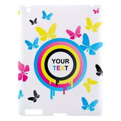 Colorful Butterfly Rainbow Circle Animals Fly Pink Yellow Black Blue Text Apple Ipad 3/4 Hardshell Case by Alisyart