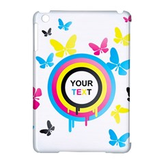 Colorful Butterfly Rainbow Circle Animals Fly Pink Yellow Black Blue Text Apple Ipad Mini Hardshell Case (compatible With Smart Cover) by Alisyart
