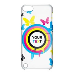 Colorful Butterfly Rainbow Circle Animals Fly Pink Yellow Black Blue Text Apple Ipod Touch 5 Hardshell Case With Stand by Alisyart