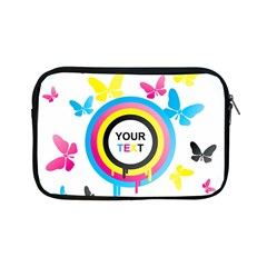 Colorful Butterfly Rainbow Circle Animals Fly Pink Yellow Black Blue Text Apple Ipad Mini Zipper Cases by Alisyart