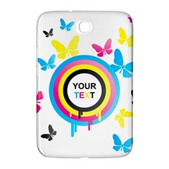 Colorful Butterfly Rainbow Circle Animals Fly Pink Yellow Black Blue Text Samsung Galaxy Note 8 0 N5100 Hardshell Case  by Alisyart