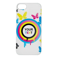 Colorful Butterfly Rainbow Circle Animals Fly Pink Yellow Black Blue Text Apple Iphone 5s/ Se Hardshell Case