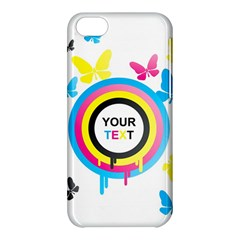 Colorful Butterfly Rainbow Circle Animals Fly Pink Yellow Black Blue Text Apple Iphone 5c Hardshell Case