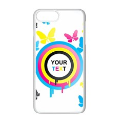 Colorful Butterfly Rainbow Circle Animals Fly Pink Yellow Black Blue Text Apple Iphone 7 Plus White Seamless Case