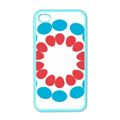 Egg Circles Blue Red White Apple Iphone 4 Case (color) by Alisyart
