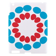 Egg Circles Blue Red White Apple Ipad 3/4 Hardshell Case by Alisyart