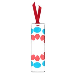 Egg Circles Blue Red White Small Book Marks by Alisyart