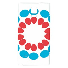 Egg Circles Blue Red White Galaxy Note 4 Back Case by Alisyart
