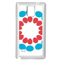 Egg Circles Blue Red White Samsung Galaxy Note 4 Case (white) by Alisyart