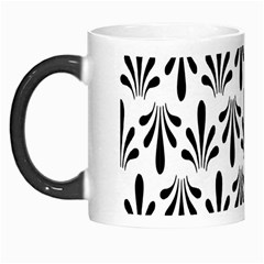 Floral Black White Morph Mugs