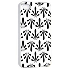 Floral Black White Apple Iphone 4/4s Seamless Case (white) by Alisyart
