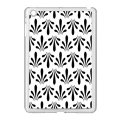 Floral Black White Apple Ipad Mini Case (white) by Alisyart