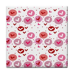 Crafts Chevron Cricle Pink Love Heart Valentine Face Towel by Alisyart