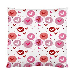 Crafts Chevron Cricle Pink Love Heart Valentine Standard Cushion Case (two Sides) by Alisyart