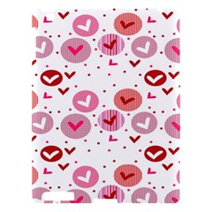 Crafts Chevron Cricle Pink Love Heart Valentine Apple Ipad 3/4 Hardshell Case by Alisyart