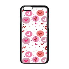Crafts Chevron Cricle Pink Love Heart Valentine Apple Iphone 6/6s Black Enamel Case by Alisyart