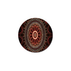 Circles Shapes Psychedelic Symmetry Golf Ball Marker (10 Pack) by Alisyart