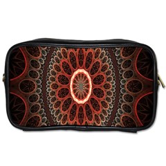 Circles Shapes Psychedelic Symmetry Toiletries Bags 2 Side by Alisyart