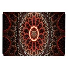 Circles Shapes Psychedelic Symmetry Samsung Galaxy Tab 8.9  P7300 Flip Case by Alisyart