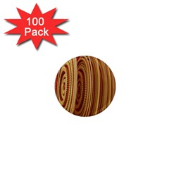 Circles Figure Light Gold 1  Mini Magnets (100 Pack)  by Alisyart