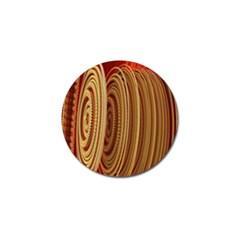 Circles Figure Light Gold Golf Ball Marker (4 Pack) by Alisyart