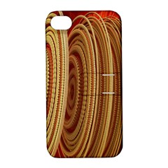 Circles Figure Light Gold Apple Iphone 4/4s Hardshell Case With Stand by Alisyart