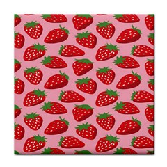 Fruitb Red Strawberries Tile Coasters