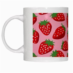 Fruitb Red Strawberries White Mugs