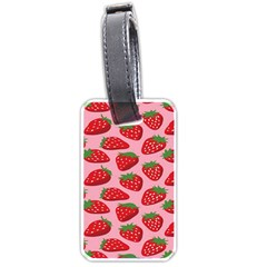 Fruitb Red Strawberries Luggage Tags (two Sides) by Alisyart
