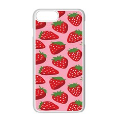 Fruitb Red Strawberries Apple Iphone 7 Plus White Seamless Case by Alisyart