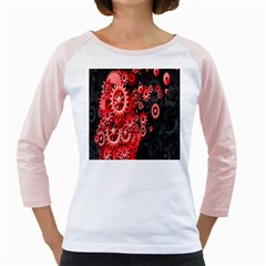 Gold Wheels Red Black Girly Raglans by Alisyart