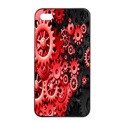 Gold Wheels Red Black Apple Iphone 4/4s Seamless Case (black) by Alisyart