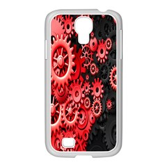 Gold Wheels Red Black Samsung Galaxy S4 I9500/ I9505 Case (white) by Alisyart