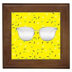 Glasses Yellow Framed Tiles by Alisyart