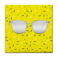 Glasses Yellow Face Towel